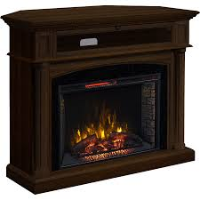 54 in w 5 200 btu marquis birch mdf infrared quartz electric fireplace with thermostat and remote