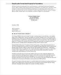 Sample Grant Proposal Letter 9 Examples In Word Pdf