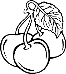 Fruit Coloring Pages Cherry Coloringstar