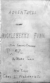 mark twain classroom activities mark twain s handwritten title page for huckelberry finn