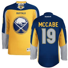youth jake mccabe authentic gold reebok jersey nhl buffalo sabres 19 third