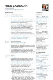 Physician Resume Samples Visualcv Resume Samples Database Free