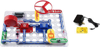 Snap Circuits Light Up Science Kit Elenco Snap Circuits Jr Deluxe Science And Engineering Kit With Battery Eliminator 2 Items