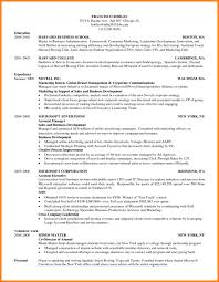 Resume Template Harvard Business School Cv Template Refrence