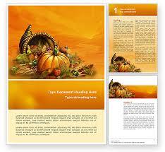 Thanksgiving Day Word Template 02819 Poweredtemplate Com