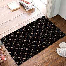 black and yellow le star door mats kitchen floor bath entrance rug mat indoor bathroom decor