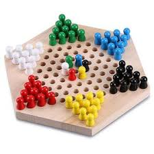 Wooden Board Game With Marbles Trinkets More Wooden Chinese Checkers Hexagon Board with Marbles 70