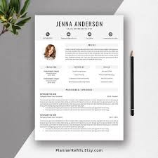 2019 Resume Cv Template For College Students Graduates And Professionals Cover Letter References Ms Word Resume The Jenna Resume