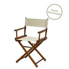director s chair honey oak solid wood frame