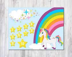 Winnie The Pooh Reward Chart Unicorn Reward Chart 2 Unicorn Prints Unicorn Birthday