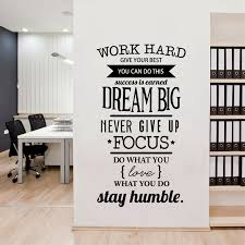 motivational office pictures. Office Motivational Quotes Wall Sticker Never Give Up Work Hard Vinyl Decal Pictures N