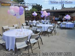 party table als in san fernando valley round table and chairs