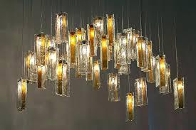 custom blown glass chandeliers innovative art glass chandelier modern art glass lighting gold drops chandelier using