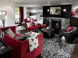 Red and black living room decorating ideas photo of good living room ideas  red and white