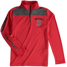 under armour jackets for youth. youth boston red sox under armour tech 1/4-zip performance pullover jacket jackets for