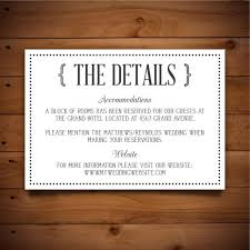 Printable Vintage Wedding Information Card Template Dark Grey