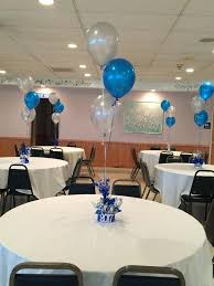 simple balloon centerpieces birthday table decoration ideas for