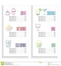 Drinks Menu Template Drink Menu Template Stock Vector Illustration Of Drink 24 5