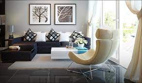 cozy living room decor with dark brown