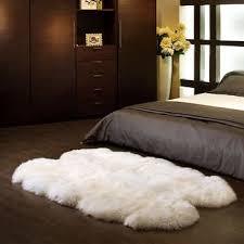 Sheep skin rug Black Costco Wholesale Quad Sheepskin Rug