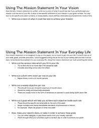 making your own life mission statement groaning inwardly advertisements