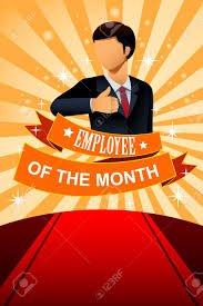 Emploee Of The Month Illustration Of Employee Of The Month Poster Frame Design
