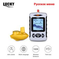 Russian Menu Lucky FFW718 <b>Wireless</b> Portable <b>Fish Finder</b> 40M ...