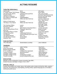 Actors Resume Wonderful Acting Resume Sample Enjoyable Ideas For Actors Free 93