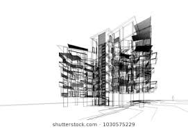 architectural buildings drawings. Brilliant Buildings Modern Architecture 3d Illustration With Architectural Buildings Drawings