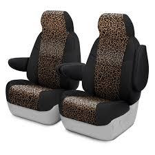 coverking neosupreme 1st row black leopard custom seat cover