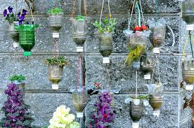 Recycled PET Bottle Hanging Flower Pots