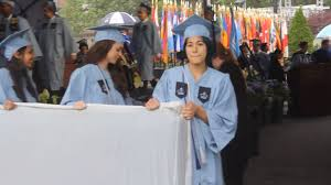columbia student brings rape mattress protest to graduation