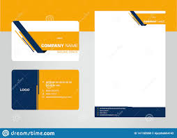 2019 Business Card Designs Business Card Letterhead Corporate Stationary Stock
