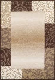 dalyn trade clairemont border fudge area rug