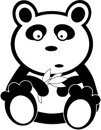 Small Picture Panda Black White Line Bear Teddy Bear Animal Art Coloring Sheet