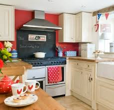 Red And White Kitchen Kitchen Fabulous Red Kitchen Backsplash And Oak Kitchen Cabinet