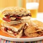 balsamic glazed chicken and bell pepper sandwiches