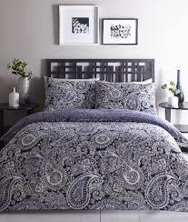 topaz paisley blue duvet cover set double