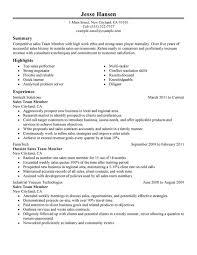 Team Skills Resume Team Member Resume Examples Created By Pros Myperfectresume