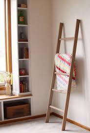 impressive design ideas decorative wall ladder small home remodel large rustic blanket storage wooden ladders shelves