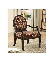giraffe furniture. ADF Accent Chair With Giraffe Print In Espresso Finish Furniture N