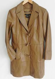 details about new terry lewis classic luxuries leather coat light brown size pxs knee length