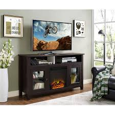 58 inch wood highboy fireplace tv stand espresso hover to zoom
