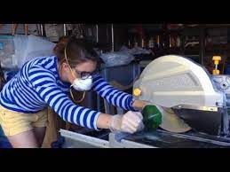 to cut square bottles with a wet saw