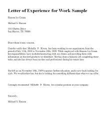 experience letter sample experience letter sample experience letter in ms word format