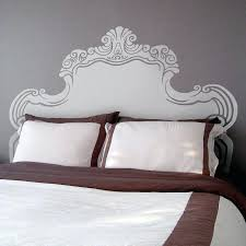 vintage bed headboard wall sticker by designs decal wooden