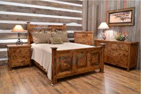 rustic bedroom furniture sets. Cheap Rustic Bedroom Furniture Sets Clear Lacquer Iron Wood Bed Red Floral Pattern Bedding Boho Chic A