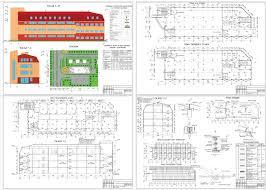 Проект торгового центра скачать Чертежи РУ Чертежи Торговый центр Лайнер 18 0 х 58 5 м в