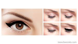 winged eyeliner for almond shaped eyes