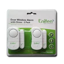 eniten door window alarm with chime 2 pack battery operated and 106db volume